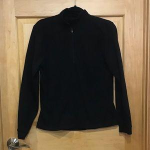 Saucony black 1/4 zip pullover running top